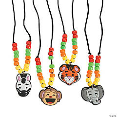 Zoo Animal Beaded Necklace Craft Kit