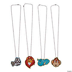 Zoo Animals Dog Tag Necklaces
