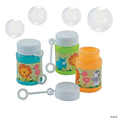 Zoo Mini Bubble Bottles