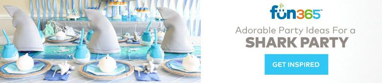 Find Adorable Party Ideas for a Shark Party on Fun365