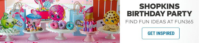 Shopkins Party Ideas By Fun365