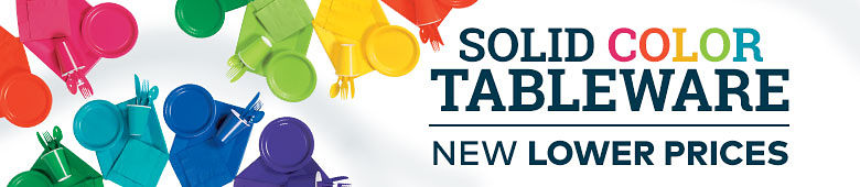 Solid Color Tableware - New Lower Prices