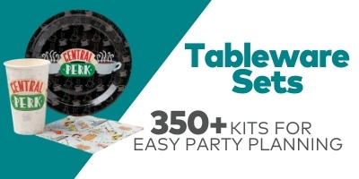 Tableware Sets - Over 350 kits for easy party planning
