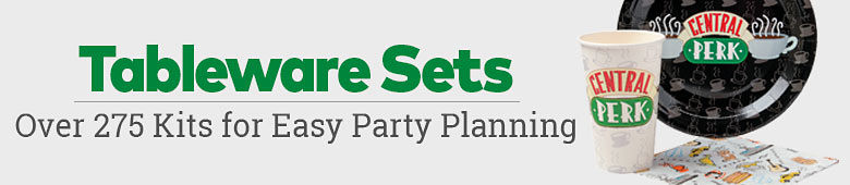 Tableware Sets - Over 275 kits for easy party planning