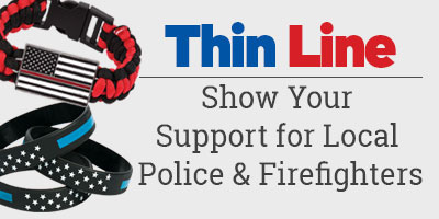 Thin Line. Show your support for local police and firefighters