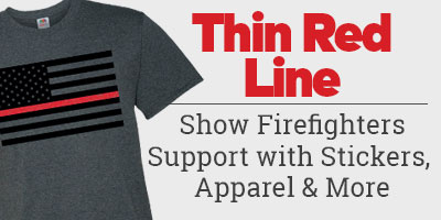 Show firefighters support with stickers, apparel and more.