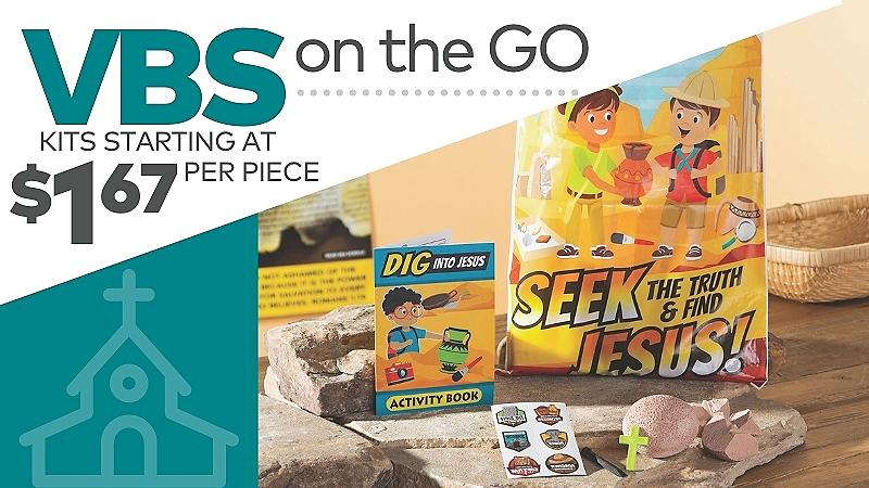 VBS on the Go. Kits starting at $1.67 per piece
