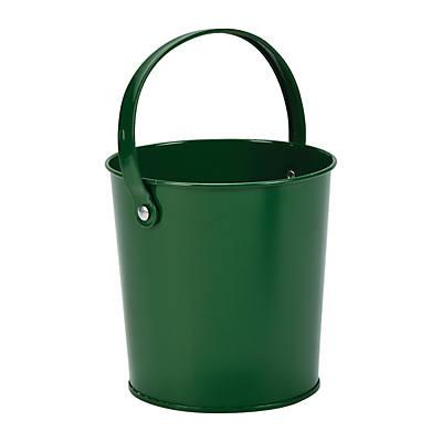 Candy Buffet Kiwi Green Plastic Treat Buckets with Handle x 6