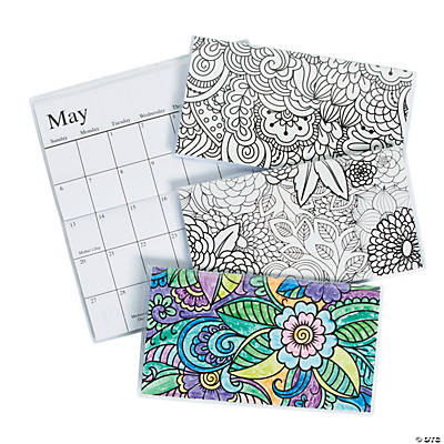 2018 2019 adult coloring pocket calendars