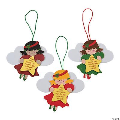 Adhesive Foam Angel Christmas Ornament Craft Kit