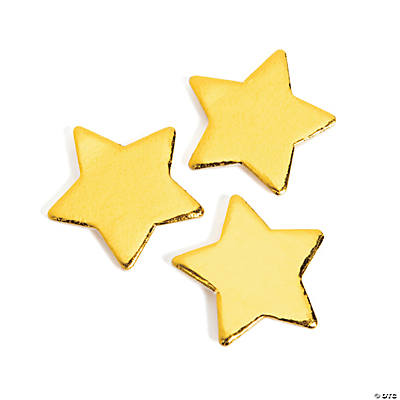 Adhesive Wooden Gold Stars