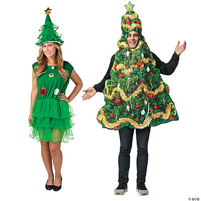 Adult's Christmas Trees Couples Costumes Image Thumbnail