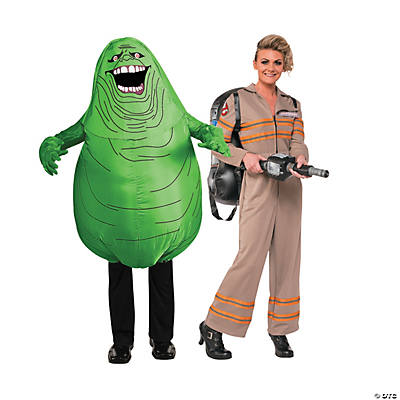 Adult's Ghostbusters™ & Slimer Couples Costumes Image Thumbnail
