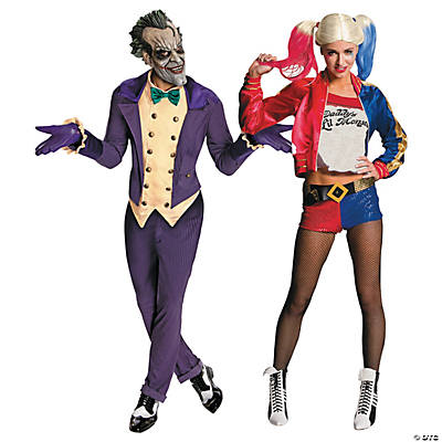 Adult's Joker and Harley Couples Costumes