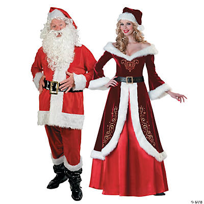 Adults Mr Mrs Claus Couples Costumes