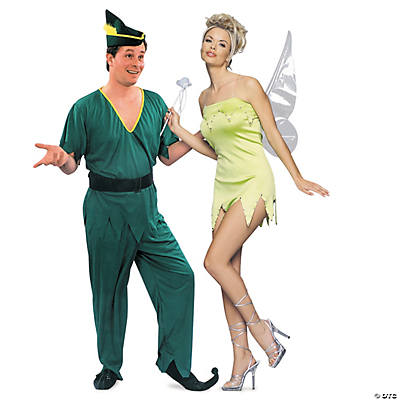 0458775ba Adult's Peter Pan & Tinker Bell Couples Costumes | Oriental Trading
