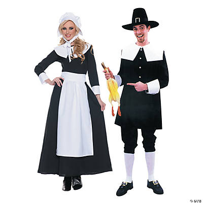 Adult's Pilgrim Couples Costumes Image Thumbnail