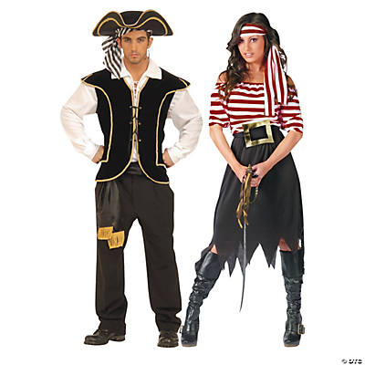 Adult's Pirates Couples Costumes