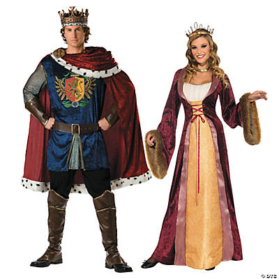 Adult's Renaissance King & Queen Couples Costumes Image Thumbnail