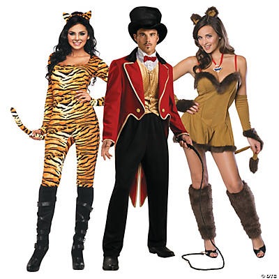 Adult's Ring Master & Lion Couples Costumes