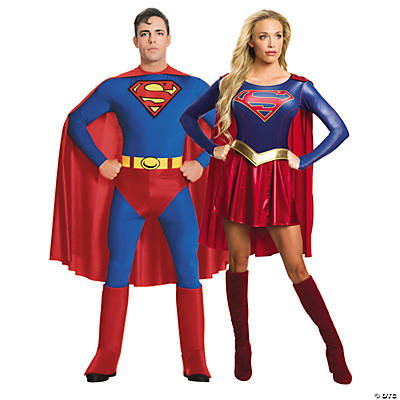 Adult's Superman & Supergirl Couples Costumes