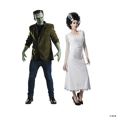 Adult's Universal Monster™ Frankenstein's Monster & Bride of Frankenstein Couples Costumes Image Thumbnail