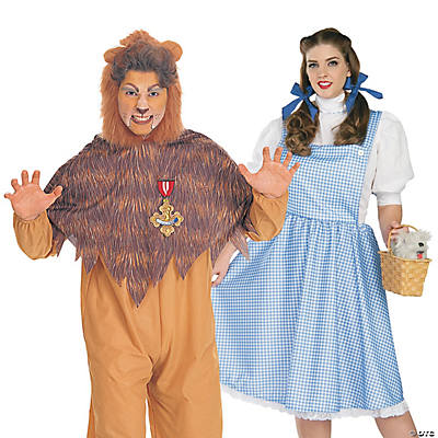 Adult's Wizard of Oz™ Dorothy & Cowardly Lion Couples Costumes Image Thumbnail