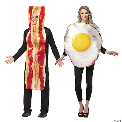 Adult's Bacon & Egg Couples Costumes