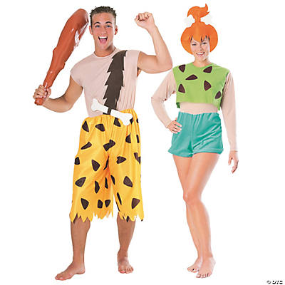 Adult's Bamm Bamm & Pebbles Couples Costumes