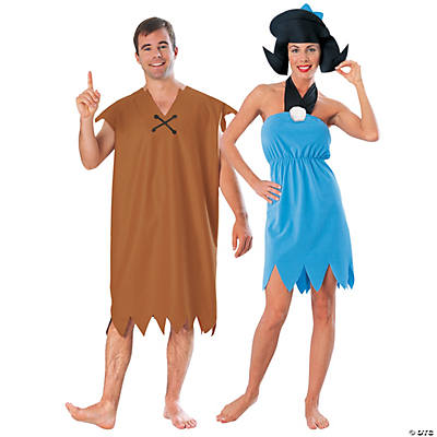Adult's Barney & Betty Rubble Couples Costumes