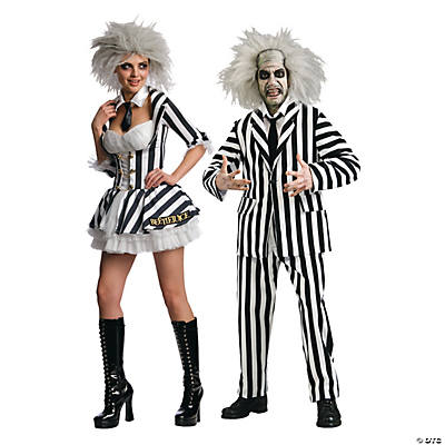 Adult's Beetlejuice Couples Costumes  Image Thumbnail