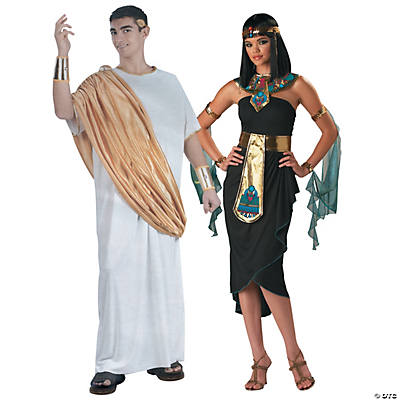 Adult's Caesar and Cleopatra Couples Costumes  Image Thumbnail