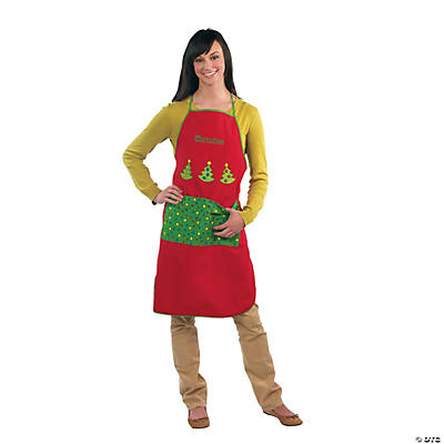 Adult's Christmas Personalized Apron Image Thumbnail