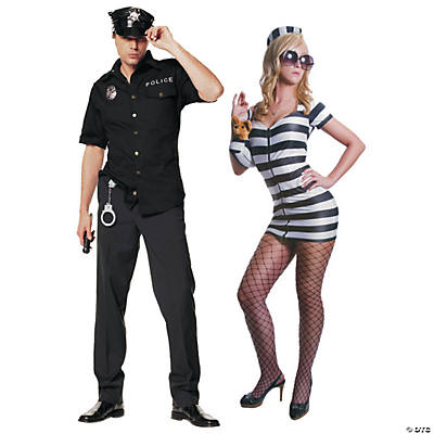 Adult's Cop & Prisoner Couples Costumes Image Thumbnail