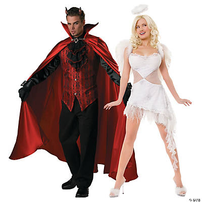 Male Angel Halloween Costumes | Adult S Devil And Angel Couples Costumes