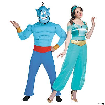 Adult's Disney's Aladdin™ Genie & Jasmine Couples Costumes