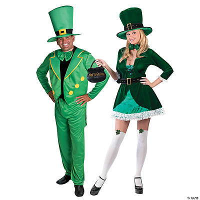 Adult's Leprechaun Couples Costumes
