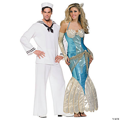 Adult's Mermaid & Sailor Couples Costumes