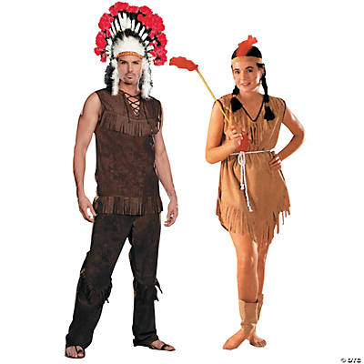 Adult's Native American Couples Costumes Image Thumbnail