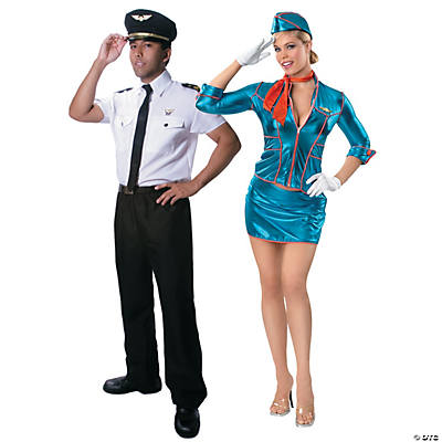 Adult's Pilot & Flight Attendant Couples Costumes