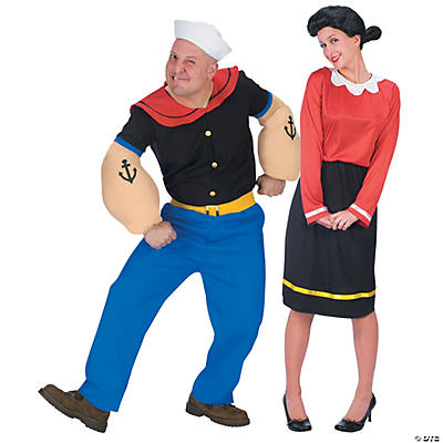 adults popeye olive oyl couples costumes