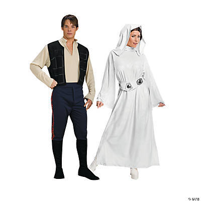 Adult's Star Wars™ Han Solo & Princess Leia Couples Costumes Image Thumbnail