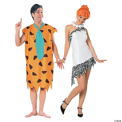 Adult's The Flinstones™ Fred & Wilma Couples Costumes