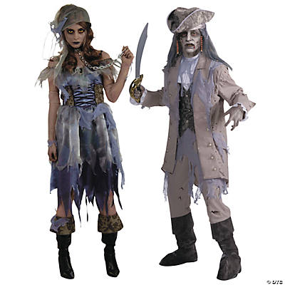 Adult's Zombie Pirate Couples Costumes  Image Thumbnail