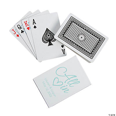 All In Wedding Playing Cards with Personalized Box