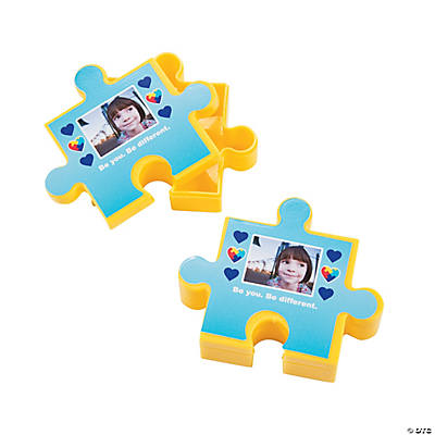Autism Awareness Puzzle Piece Custom Photo Favor Containers Image Thumbnail