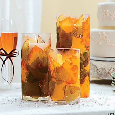 Autumn Leaves Centerpiece Idea Image Thumbnail