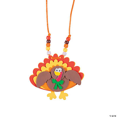 oriental trading crafts beaded turkey necklace craft kit 2578