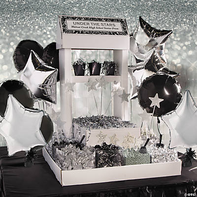 Black Silver Wedding Candy Buffet Idea