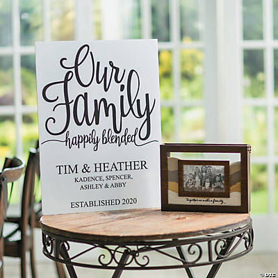 Blended Family Sand Ceremony Photo Frame